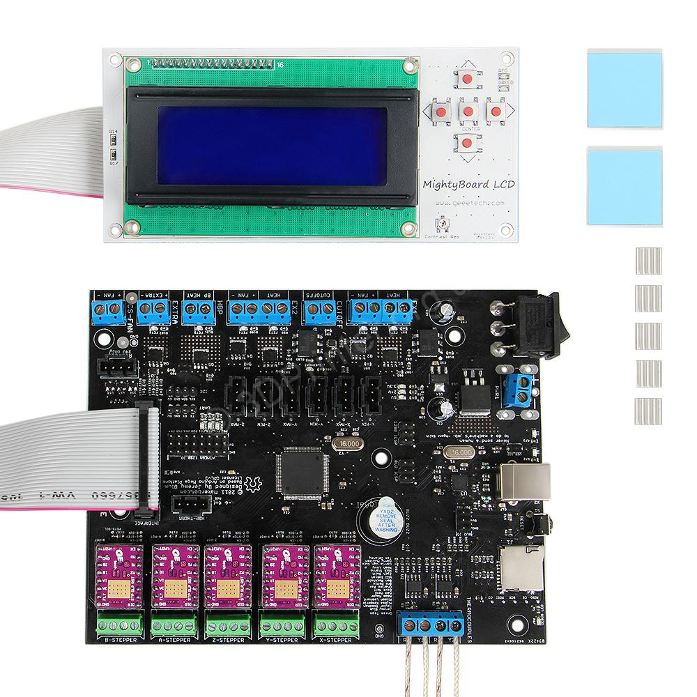 Geeetech-mightyboard-kits-LCD-display-DRV8825-stepper-motor-driver-heatsink-cabe-and-so-on-for-sale