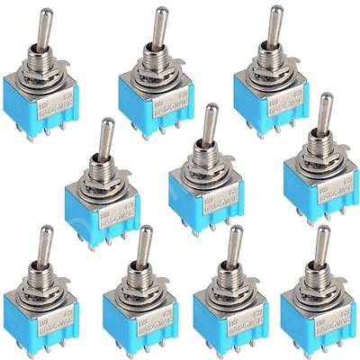 10pc-Blue-6-Pin-DPDT-ON-ON-Mini-MTS-203-6A