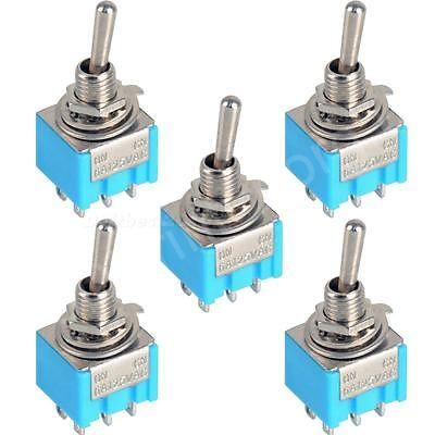 5pcs-Blue-6-Pin-DPDT-ON-ON-Mini-MTS-203-6A125VAC