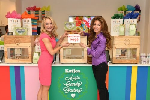NEW YORK, NY - MAY 19:  Melissa Snover (L) and Dylan Lauren attend Dylan's Candy Bar exclusively launches first 3D printed candy in the U.S. with Katjes Magic Candy Factory on May 19, 2016 in New York, New York.  (Photo by Andrew Toth/Getty Images for Dylan's Candy Bar)